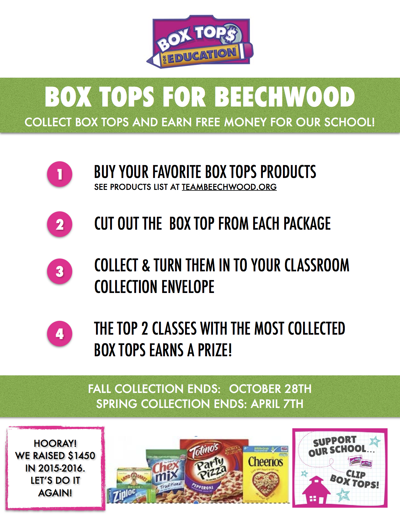 box tops labels for education team beechwood